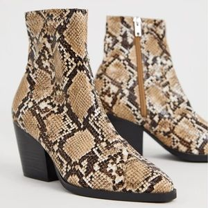 Public Desire Charlie snake western boots new!